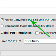 Merge and Convert Excel files to One PDF